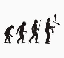 Funny Evolution of Man and Juggling by movieshirtguy