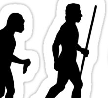 Funny Evolution of Man and Juggling Sticker