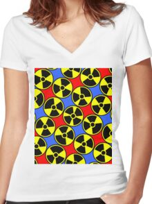 HAZARDOUS-2 Women's Fitted V-Neck T-Shirt