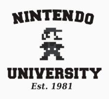 Nintendo University (Mario) Kids Tee