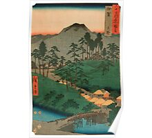 Scenic Japan landscape Poster