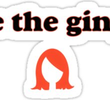 Save the Gingers (black text) Sticker