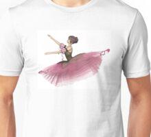 Pink Flower Ballerina Leaping Unisex T-Shirt