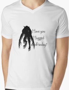 Have You Hugged a Wolf Mens V-Neck T-Shirt