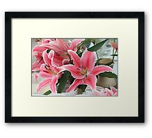 lily arrangement Framed Print