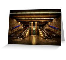 Metro Underground: Passeig de Gracia Greeting Card