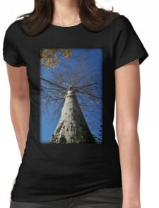 Towering Autumn Sycamore Womens Fitted T-Shirt