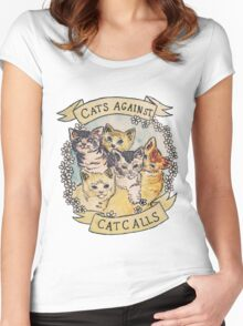 Cats Against Cat Calls Women's Fitted Scoop T-Shirt
