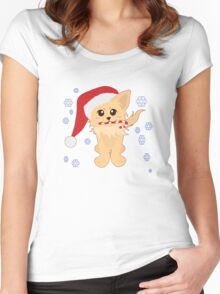 Christmas Puppy Women's Fitted Scoop T-Shirt