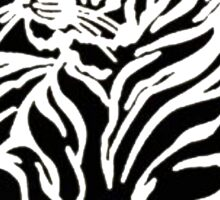 Tiger Tattoo - Black Sticker