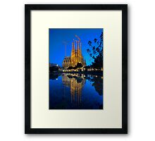 Sagrada Familia At Dusk Framed Print
