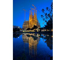 Sagrada Familia At Dusk Photographic Print