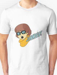 Velma Dinkley - Jinkes! [Blue Text] T-Shirt