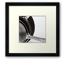 Kitchen Art: Measuring Cups Framed Print