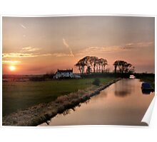 Sunset on the Lancaster Canal Poster