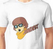 Velma Dinkley - Jinkes! [Brown Text] Unisex T-Shirt