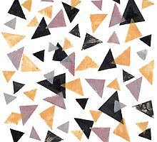 Handpainted Stamped triangles by AcidDominic