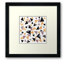 Handpainted Stamped triangles Framed Print