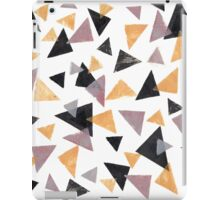 Handpainted Stamped triangles iPad Case/Skin