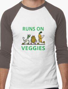 Runs On Veggies Men's Baseball ¾ T-Shirt