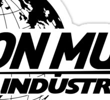 Elon Musk Industries Logo Grey Sticker