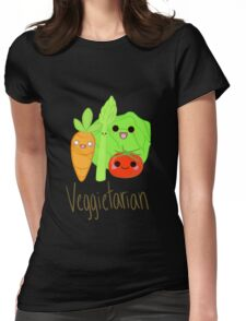 Veggitarian Tshirt Womens Fitted T-Shirt
