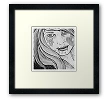 zombie girl Framed Print