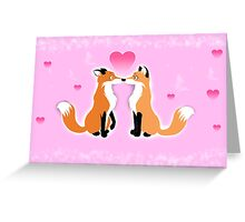 Valentines Day Foxes Greeting Card
