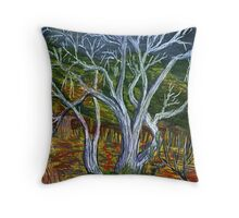 Cottonwoods of Box Canyon, Arizona. Throw Pillow