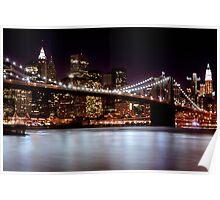 Brooklyn Bridge at Night (New York) Poster
