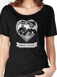 AMOR ETERNO | ETERNAL LOVE | Black & White Women's Relaxed Fit T-Shirt