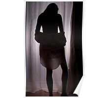 Silhouetted woman Poster