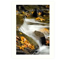 Waterfall Abstract Art Art Print