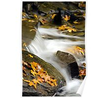 Waterfall Abstract Art Poster