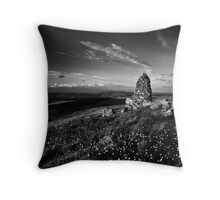 Stone Stacks, Skipton Moor, Yorkshire, United Kingdom Throw Pillow