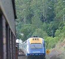 The Old and the New - The Steam Train and the XPT by Adrian Paul