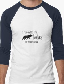 Running with the Wolves Men's Baseball ¾ T-Shirt