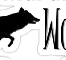 Running with the Wolves Sticker