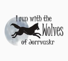 Running with the Wolves (with moon) Baby Tee