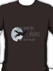 Running with the Wolves (with moon) T-Shirt