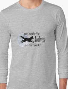 Running with the Wolves (with moon) Long Sleeve T-Shirt