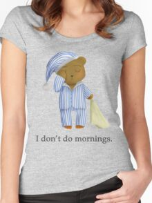 I Don't Do Mornings.  Women's Fitted Scoop T-Shirt