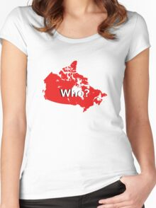 Canada Who? Women's Fitted Scoop T-Shirt
