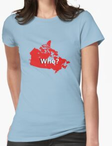 Canada Who? Womens Fitted T-Shirt