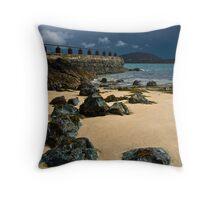 Lifeboat Bay Lynn Peninsula, Wales Throw Pillow