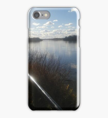 North Saskatchewan River, Looking West iPhone Case/Skin