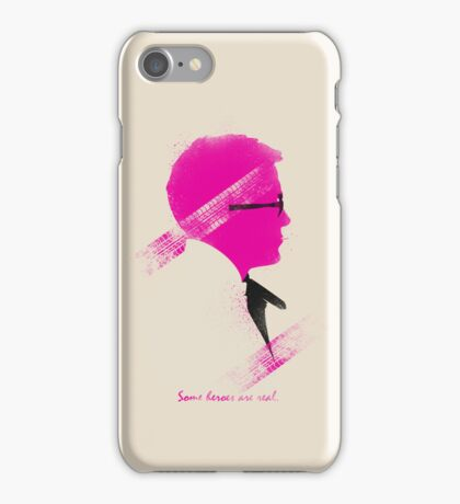 Some Heroes are Real iPhone Case/Skin
