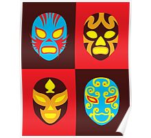 Mexican Wrestling Masks, Luchador Poster