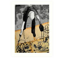 the abstract expressionist (Pollock) Art Print