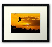 Sunset Paragliding 2 Framed Print